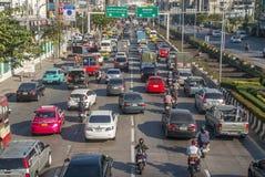 Затор движения в утре в Бангкоке стоковое изображение