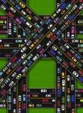 Затор движения на дорогах иллюстрация вектора