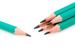 заточенные карандаши руководства Стоковая Фотография