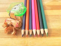 Заточенные красочные карандаши Стоковое Изображение