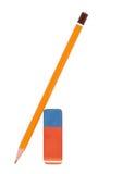 Заточник ручки и ластика на белизне Стоковые Изображения