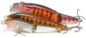затравливает wobblers рыболовства бальзы Стоковое Изображение