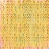 Затрапезная достигшая возраста золотая розовая предпосылка пергамента с барочными картинами иллюстрация вектора