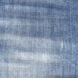 Затрапезная текстура голубых джинсов Стоковая Фотография RF