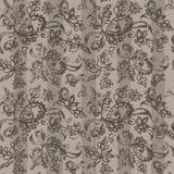 Затрапезное цветистое винтажное оформление и картина диапазонов безшовная Иллюстрация штока