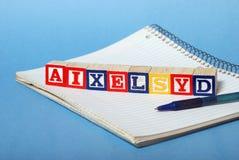 Затруднения дислексии Стоковые Фотографии RF