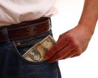 Затруднения оплаты - личные сбережения Стоковое Фото