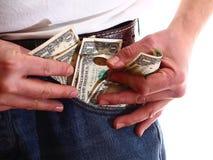 Затруднения оплаты - личные сбережения Стоковые Фото