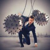 Затрудненный бизнесмен определенный но Стоковые Фотографии RF