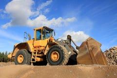 Затяжелитель колеса на яме песка Стоковое Фото
