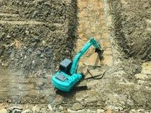 Затяжелитель Backhoe в строительной площадке стоковая фотография