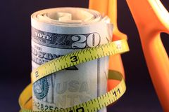 Затяните бюджетю/взвинчивание Стоковое Изображение RF