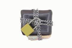 Зафиксируйте бумажник цепью Стоковые Фотографии RF