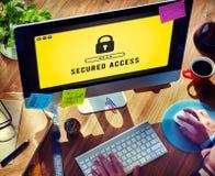 Зафиксируйте концепцию значка защищенную паролем графическую Стоковая Фотография