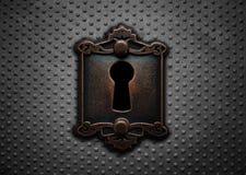 Зафиксируйте на стальной двери Стоковая Фотография