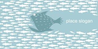 Захватнические охоты рыб Стоковые Фото