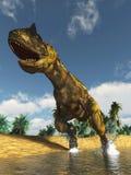 Захватнический динозавр стоковое изображение rf