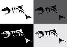 Захватнический скелет рыб иллюстрация штока