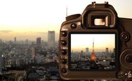 Захватывать цифровой фотокамера Стоковое фото RF