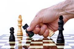 захватывать часть руки шахмат Стоковая Фотография