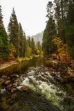 Захватывающие виды национального парка Yosemite в осени, халифе Стоковые Изображения RF