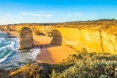 Захватывающие виды 12 апостолов Австралии Стоковое Фото
