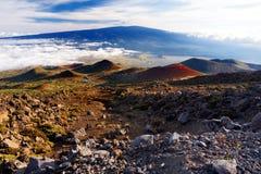 Захватывающий взгляд вулкана Mauna Loa на большом острове Гаваи Стоковые Фотографии RF
