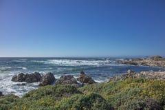 Захватывающий взгляд моря вдоль привода Калифорнии 17 миль Стоковое Изображение
