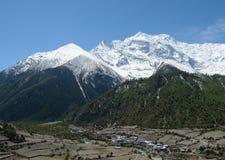 Захватывающий взгляд Annapurna Стоковые Фотографии RF