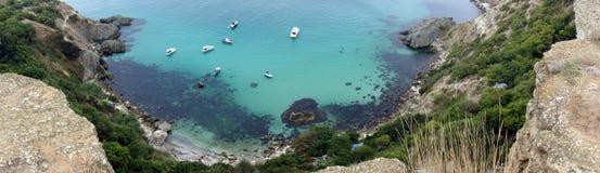 Захватывающий вид залива Стоковые Изображения