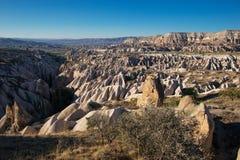 Захватывающий вид в Cappadocia, Турции Стоковое Изображение RF