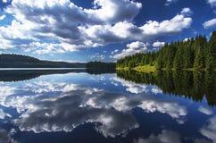 Захватывающий вид на озеро Стоковые Изображения