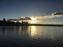 Захватывающий заход солнца в Сиэтл стоковые изображения rf