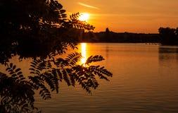 Захват захода солнца города стоковое фото rf