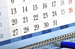 захват стола календара Стоковое Изображение RF
