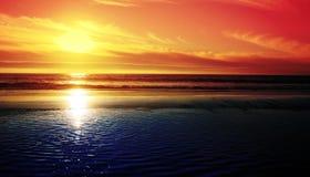 заходящее солнце западное стоковая фотография