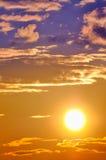 заходящее солнце Стоковые Изображения