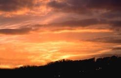 заход солнца автомобилей Стоковое Изображение RF