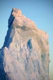 заход солнца айсберга Антарктики голубой Стоковое Изображение RF