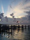 Заход солнца Америк стоковые фото