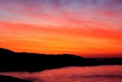 заход солнца Антарктики красивейший Стоковая Фотография