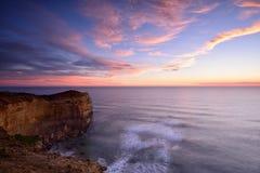 Заход солнца 12 апостолов вдоль большой дороги океана Стоковые Фото