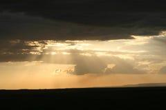 заход солнца Африки стоковая фотография rf