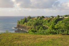 заход солнца берега Гавайских островов kauai северный s Стоковые Изображения RF