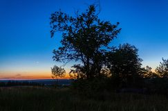 Заход солнца весны Стоковое фото RF