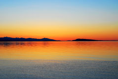 заход солнца взморья стоковое изображение rf