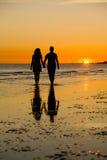 заход солнца влюбленности Стоковое фото RF