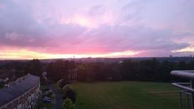 Заход солнца внутри облака Стоковое Изображение