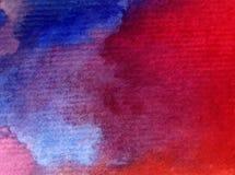 Заход солнца восхода солнца неба конспекта предпосылки искусства акварели текстурировал фантазию влажного мытья запачканную Стоковые Фото