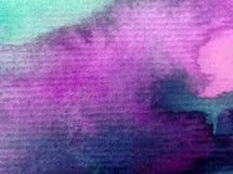 Заход солнца восхода солнца неба конспекта предпосылки искусства акварели текстурировал фантазию влажного мытья запачканную Стоковое Изображение RF